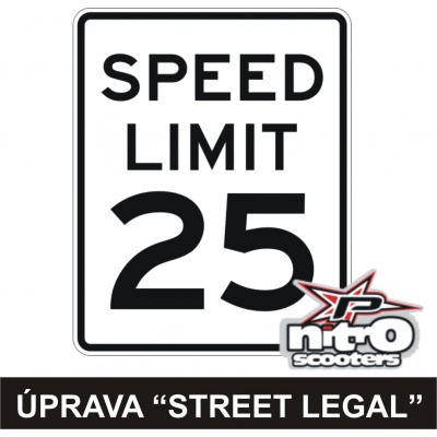 Úprava Street Legal - 49cc motory